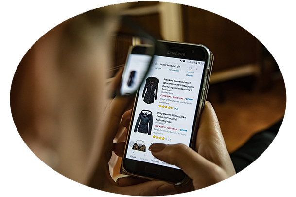 shopping on cell phone